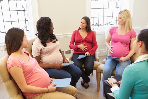 Pregnant Women Meeting At Ante Natal Class